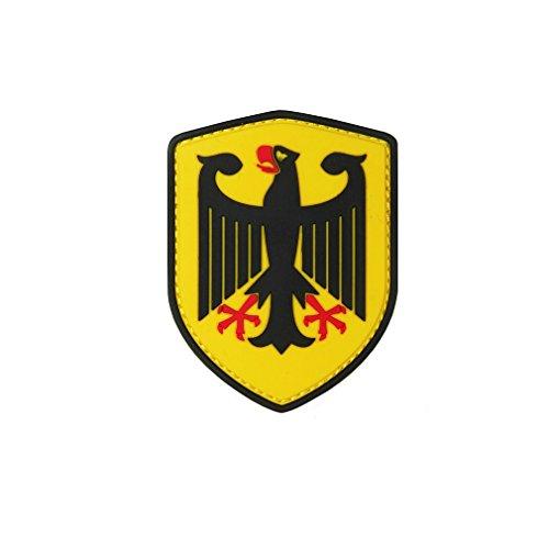Copytec Bundesadler Patch 3D Rubber Adler Deutschland Bundeswehr Polizei Uniform Abzeichen Emblem Klett BRD 8x6cm #22977