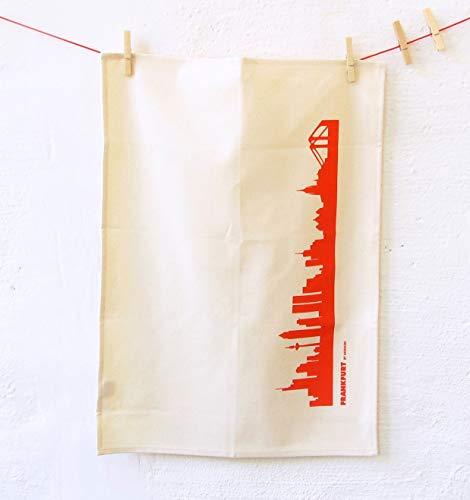 Torchon Francfort en coton bio - Coloris différents - City Towel de 44spaces Natur/Rot