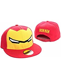 Iron Man Face mask Official marvel red snapback Baseball Cap One Size