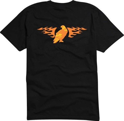 T-Shirt Herren Vögel Schlafplatz Schwarz