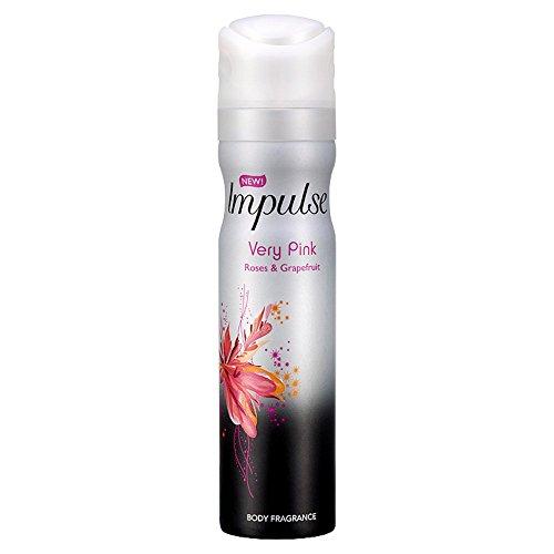 "Déodorant Impulse ""Très rose"" Roses & Pamplemousse, 75 ml 8711600323520"