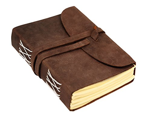 Leaderachi Genuine Hunter Leather & Handmade Paper Diary ,Hartford