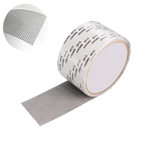 Geekerchip riparare zanzariera nastro adesivo con forte sigillo adesivo in fibra di vetro per schermi di finestre e riparare zanzariera(grigio)