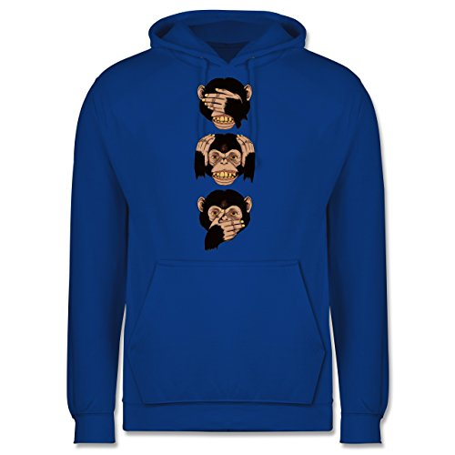 Statement Shirts - Drei Affen - Sanzaru - Männer Premium Kapuzenpullover / Hoodie Royalblau