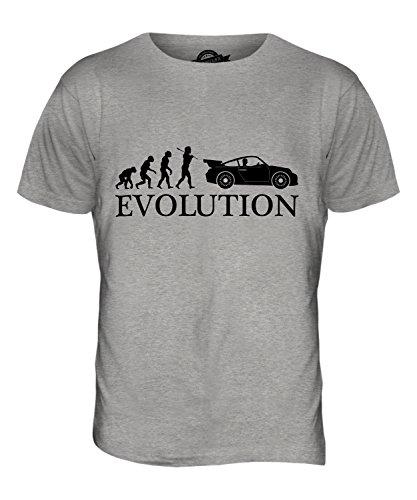 CandyMix Sportswagen Evolution Des Menschen Herren T Shirt Grau Meliert