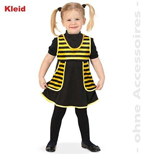 Bienchen Kleid Biene Träger-Kleid 98 Baby Kleinkind Kinder-Kostüm Fasching