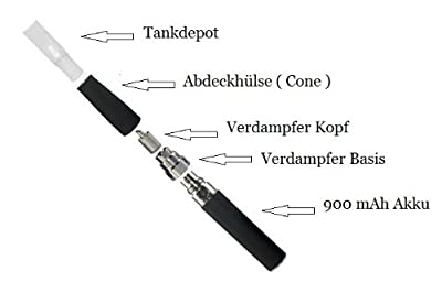 Verdampfer - Basis für EGO-C für wechselbare Verdampfer / Atomizer Köpfe auch zum Umbau einer EGO-T geeignet von rauchfreishop