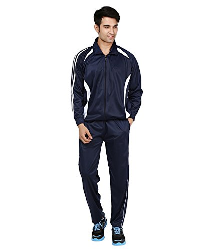 VDG TRACKSUIT NAVY BLUE WITH WHITE BOARDER-SIZE-38