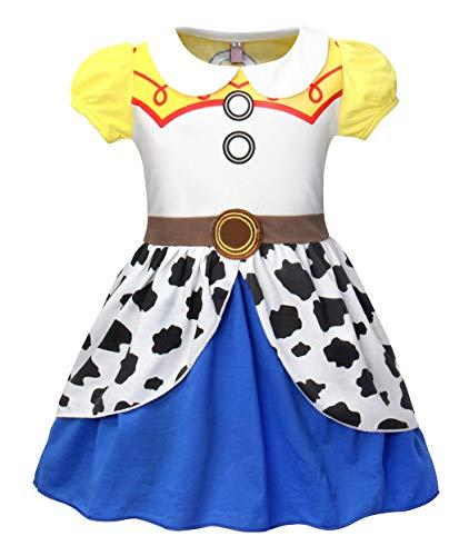 AmzBarley Mädchen Kostüm Jessie Kleid Cosplay Schick Party Ankleiden Geburtstag Karneval Halloween Kleidung