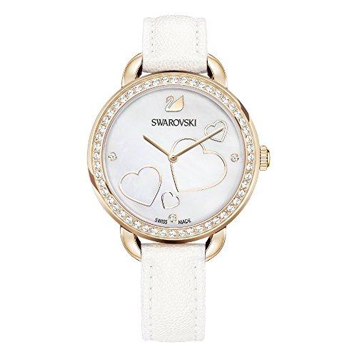 Swarovski orologio aila day heart da donna con cinturino in pelle bianca – 5242514