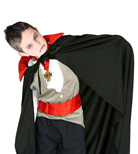 Kinder Halloween Dracula Vampir Cape schwarz und ()