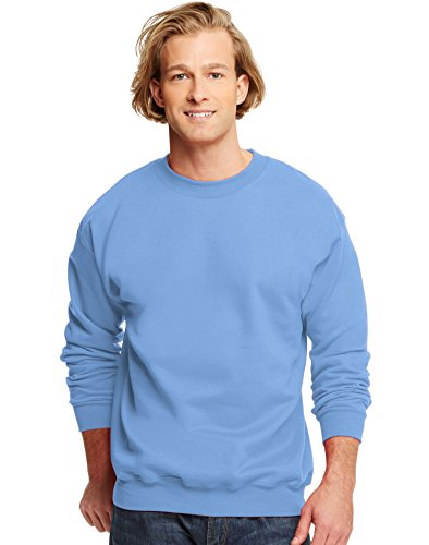 Hanes Men's Ultimate Cotton Crew Neck Blue M (Sweatshirt Ultimate Cotton Crew)