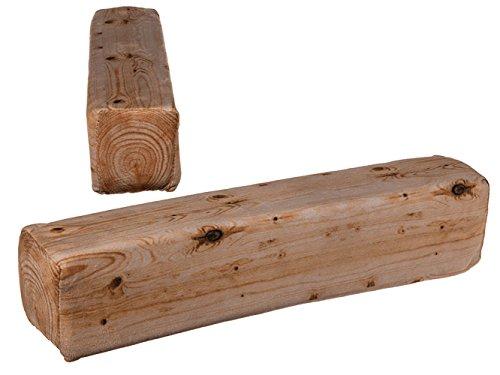 OOTB Cuscino Decorativo, Travi in Legno 100% Poliestere, ca. 39x 8cm, Peso: ca. 65G