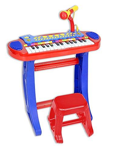 Bontempi 13 3240 - Tastiera 31 tasti con gambe e sgabello, corredata di microfono