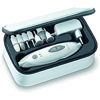 Sanitas SMA 35 elektrisches Maniküre-/Pediküre-Set, mit 7 Nagelpflege-Aufsätzen, weiß/silber