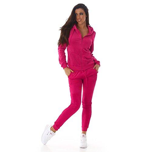 Voyelles Damen Jogginganzug, ein Freizeitanzug mit eleganten Details, in vielen Größen und Farben erhältlich S M L Pink