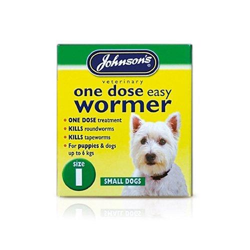Johnsons uno Dosis facile vermicida per piccoli cani taglia 130g-Set offerta da 6x