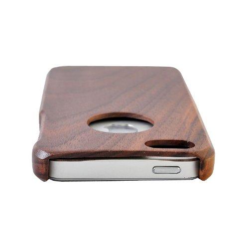 SunSmart (TM) unique fait main naturelle merisier Hard Cover Case en bois pour iPhone 5 5s(source d'inspiration) noyer une