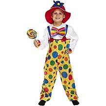 Kids Jungen Mädchen Spotty Clown Hose Fancy Dress Kostüm Kinder Buch Tag aller Altersstufen Vex u00254/u37708/709