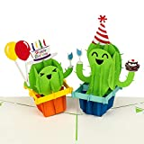 PaperCrush® Pop-Up Geburtstagskarte Kaktus - Lustige 3D Karte zum Geburtstag, Glückwunschkarte für Kindergeburtstag mit Kakteen, Happy Birthday Karte inkl. Umschlag