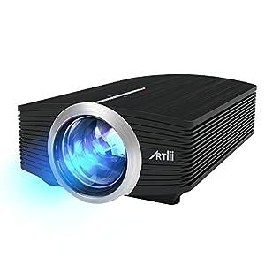 Projecteur Artlii, Vidéoprojecteur portable à LED 1600 lumens résolution 800*480 130
