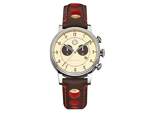 Mercedes-Benz Chronograph Men's Classic 300 SL Beige/Brown/Red, Stainless Steel/Calfskin