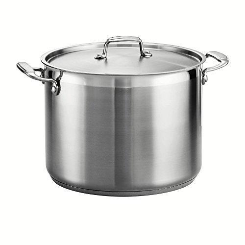 Tramontina 80120/001DS Tramontina Gourmet Stainless Steel Covered Stock Pot, 16-Quart by Tramontina 16 Quart Stock Pot
