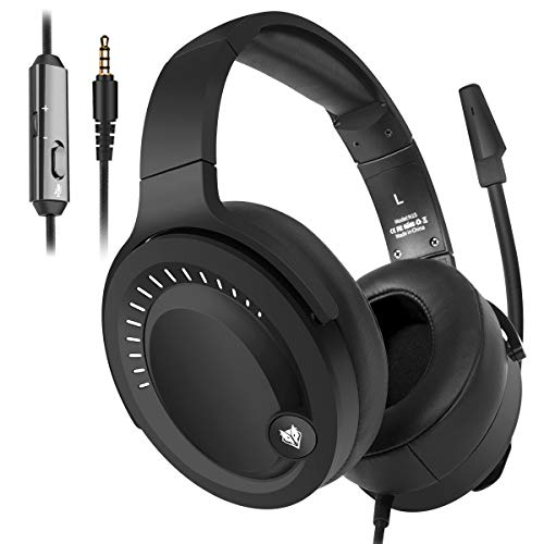 NUBWO Gaming Headset, PS4 Headset, Xbox One Headset, PC Headset, 3.5mm Surround Stereo Kopfhörer with Microphone for Nintendo Switch, PlayStaton 4, Laptop (One Xbox Für Stereo-headset)