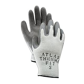 Showa Best 451-09 SHOWA Best Glove Atlas Thermal-Fit PF451 Knit Glove with Rubber Coating, Men's Jumbo (Fits X-Large), Gray, Large (Pack of 12)