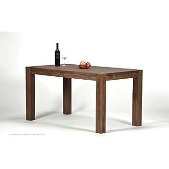 Design Esstisch Holz Massiv 140 x 80 x 76 cm   Moderner ...