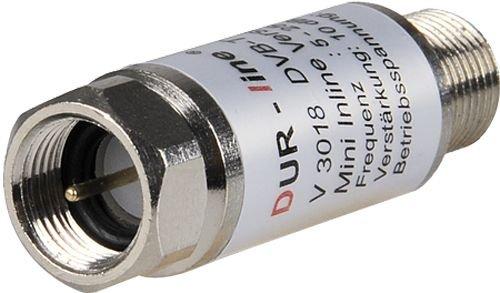 DUR-line® V3018 - Mini Inline Verstärker, Verstärkung 18 dB, für Sat und DVB-T2, 5-2400 MHz