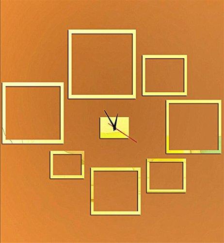 Sucastle® 12 in Acryl DIY 3D Wanduhren Modern Design Acryl Wanduhren Wandtattoo Dekoration fürs Wohnzimmer Kinderzimmer Nostalgie Wanduhr ohne Tickgeräusche Wanduhr Europäische Vintage Handarbeit 3D Dekorative Zahnrad aus Holz