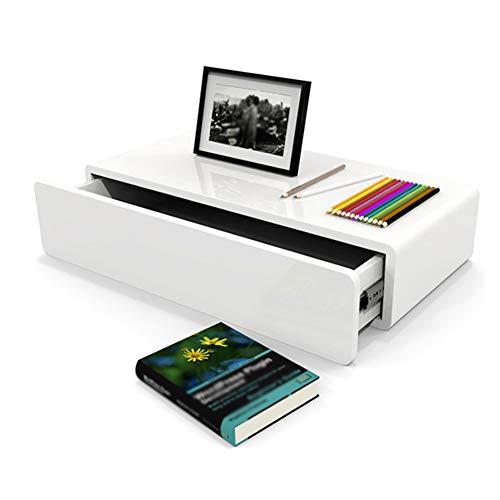 CHAOXIAN Table de Chevet Tiroir Meuble TV Cloison en Bois Massif Salon Salle de séjour, 2 Tailles (Couleur : Blanc, Taille : 60x28x13.3cm)