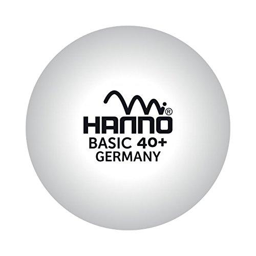 Hanno Tischtennis Ball Basic 1* - Set mit 72 Bällen - weiß