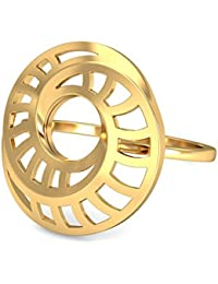 P.N.Gadgil Jewellers Lavanya Collection 22K (916) Yellow Gold Spiral Looped Ring