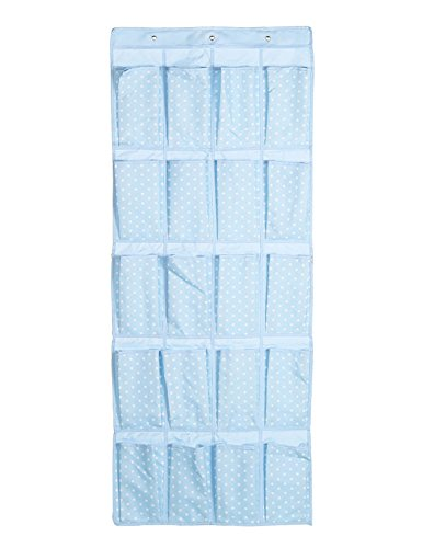 Kimjun Hängeorganizer Tür zurück Aufbewahrungstasche Wand hängenden Beutel Hängenden Tasche Veranstalter Mehrschicht-Aufbewahrungstasche mit 20 Tasche(Dots,Blau)