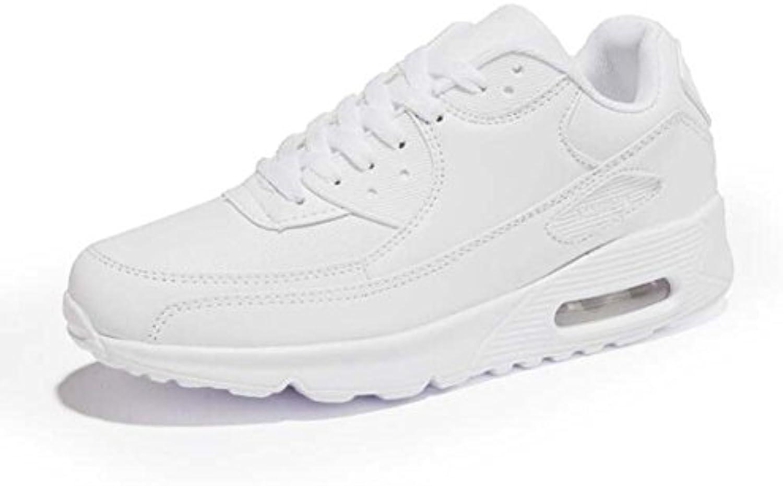 MYI Damen Flache Sportschuhe Casual Comfort Sneakers Runde Zehe Lace-up Schwarz/Pink/Rot/Weiß Größe 35-44