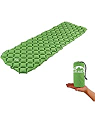 Sleeping Pad, ARAER Tapis de Camping Gonflable Ultraléger Coussin d'air avec Air-support Cells Design, Matelas Gonflable Ultra-compact pour Randonnée Camping Voyage