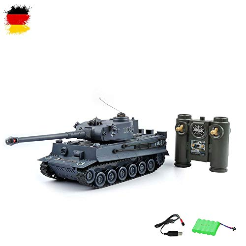 German Tiger I RC ferngesteuerter Panzer mit Gefecht- und Schusssimulation,Sound,Licht,Komplett-Set