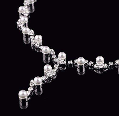 Set COLLIER Halskette Perlen Strass BRAUTSCHMUCK HOCHZEIT BRAUT SCHMUCK TAUFE