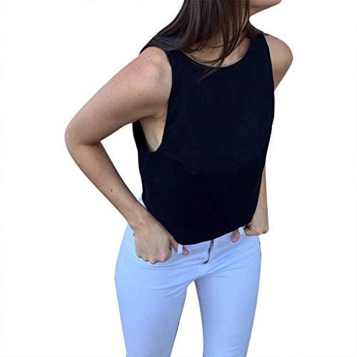 MCYs Frauen Sommer Einfarbig Ärmelloses Rückenfreies Bandage Tank TopFrauen-Sommer-Feste ärmellose rückenfreie Bogen-Verband-Baumwolle und Leinen-Trägershirt Army Dress Blue Hose