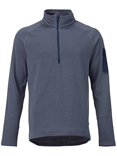 Herren Fleecepullover Burton Ak Grid Half Zip Tech Fleece washed blue heather