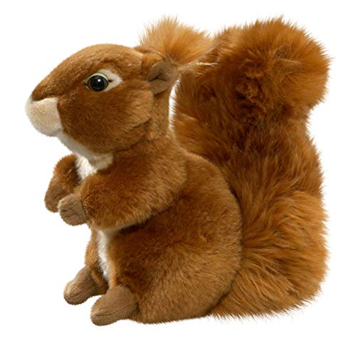 Eichhörnchen aus Plüsch, ca. 19cm Rückenlänge diagonal mit Kopf. - Eichhörnchen