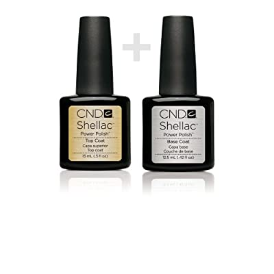 Shellac CND Top + Base Coat 12.5ml Large Size Gel UV3