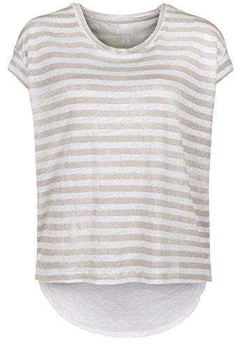 Blaumax -  T-shirt - Basic - Maniche corte  - Donna beige stripe