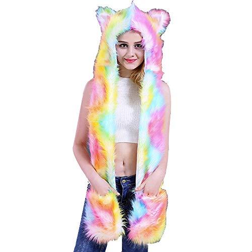 Katze Im Hut Familien Kostüm - MIRRAY Damen Mädchen Weihnachten Mäntel LED