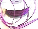 CaPiSo® 100 m Organza Chiffon 3 mm breit mit Webkante (Lila)