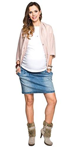 Umstandsrock, Schwangerschaftsrock SUZI, Jeansrock für Schwangere von Torelle, hochwertige Baumwolle! Jeansblau