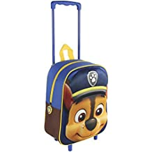 Paw Patrol Mochila trolley Trolley 3D Patrulla Canina Chase Azul Marino