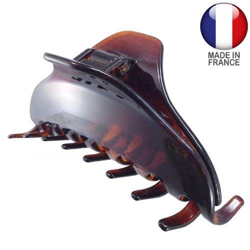 758 – 003 – Pince pour cheveux français plate cm 9 – Tortue – Pinces pour Cheveux